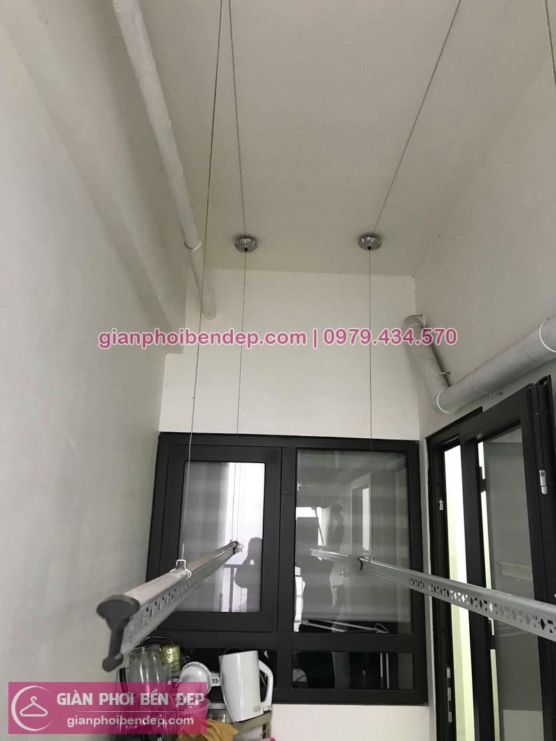 Lắp giàn phơi thông minh nhà chị Trúc ở chung cư Hateco Hoàng Mai