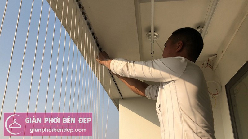 Lắp lưới an toàn ban công nhà chị Dịu ở chung cư FLC Garden City