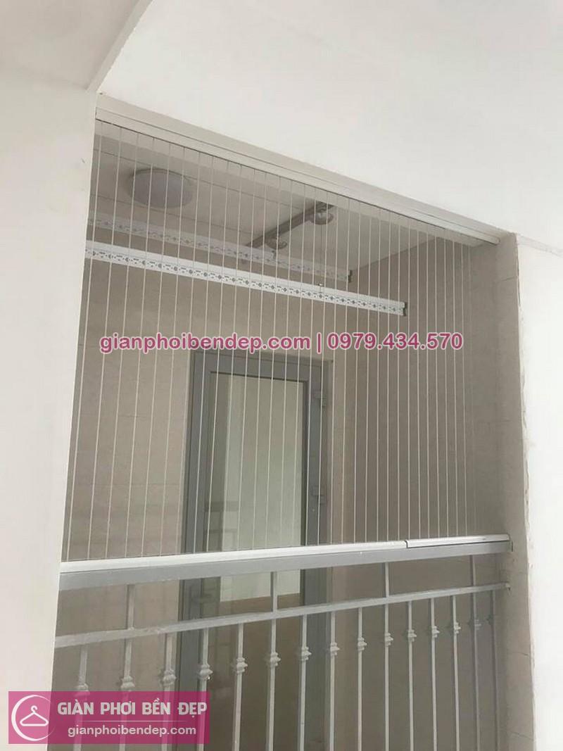 Lắp lưới an toàn ban công nhà chị Phương ở chung cư CT3 Xa La, Hà Đông
