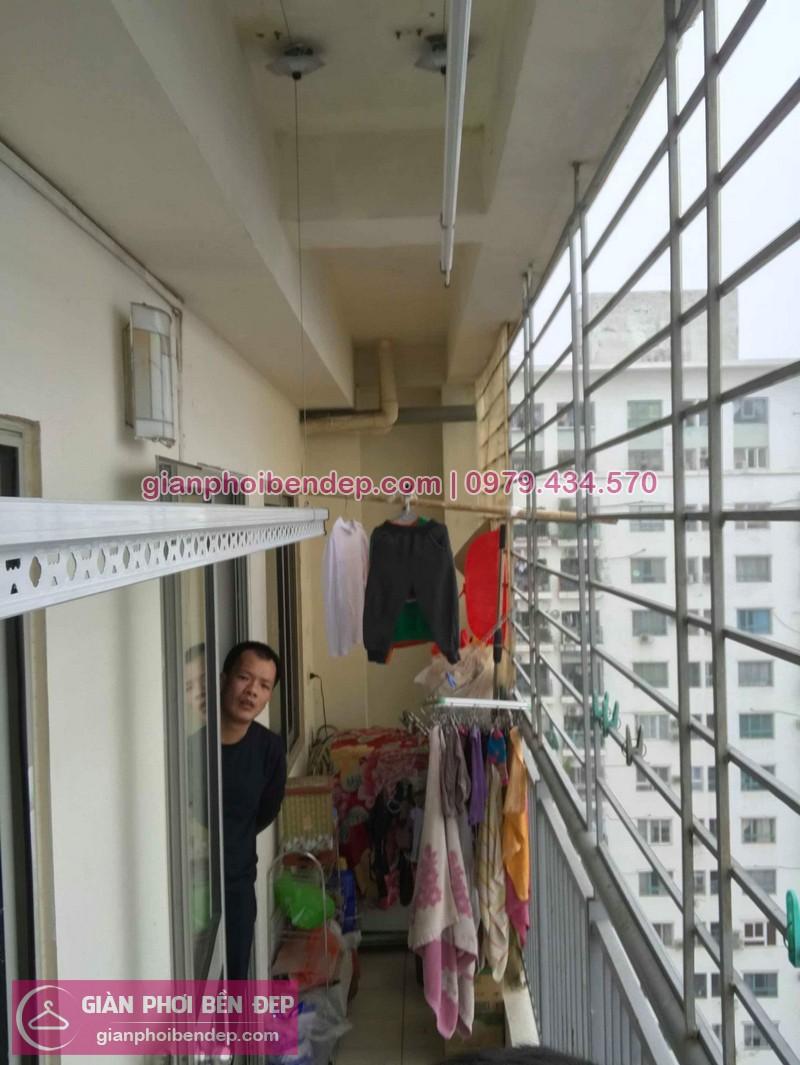 Hình ảnh thực tế bộ giàn phơi quần áo thông minh nhà anh Quân