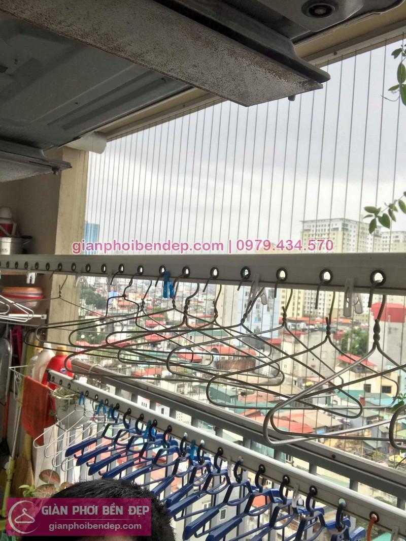 Sửa giàn phơi thông minh nhà chị Huyên ở chung cư 250 Minh Khai