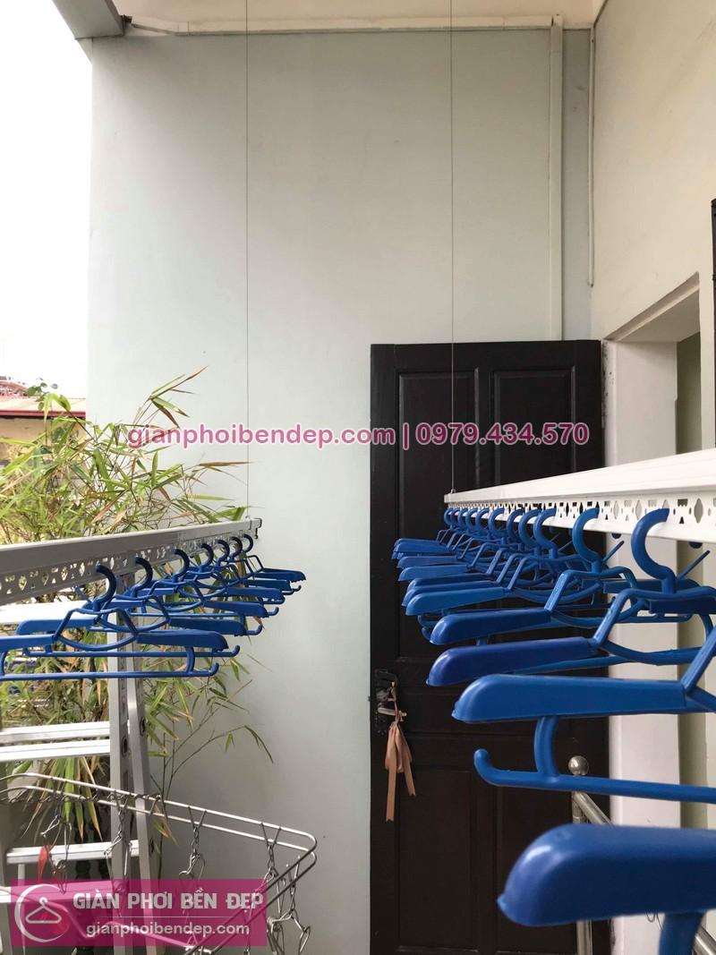 Lắp giàn phơi Long Biên nhà chị Uyên ở ngách 117/18 Nguyễn Sơn, Gia Thụy