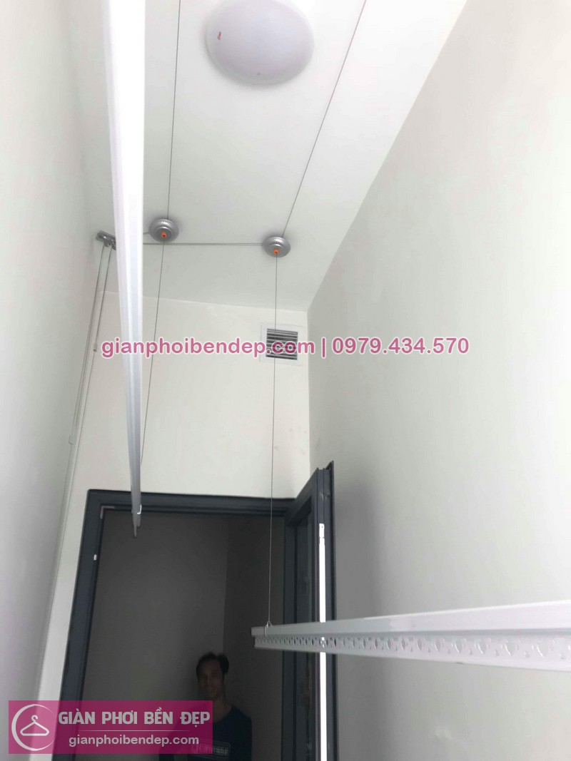 Lắp giàn phơi Thanh Xuân nhà chị Mỹ ở chung cư 203 Nguyễn Huy Tưởng