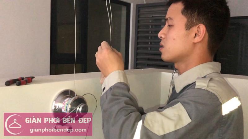 Lắp giàn phơi Thanh Xuân nhà chị Ngọc ở chung cư Imperia Garden 203 Nguyễn Huy Tưởng