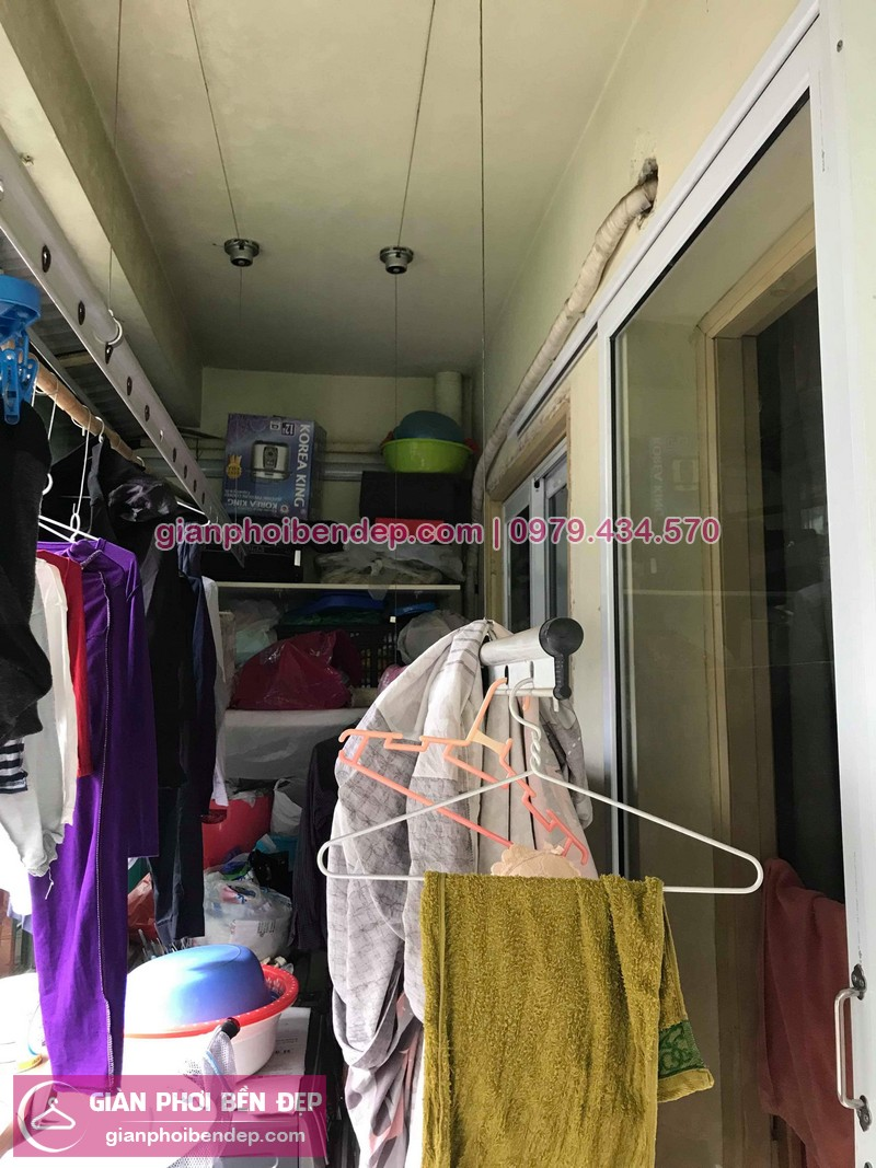 Hình ảnh thực tế của bộ giàn phơi quần áo thông minh nhà cô Nhâm