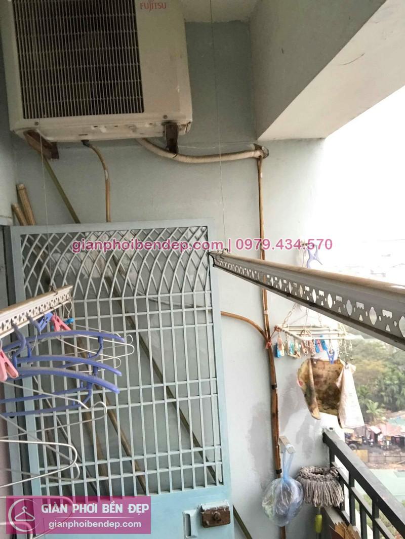 Sửa giàn phơi thông minh nhà anh Cường ở KĐT Bắc Linh Đàm, Hoàng Mai