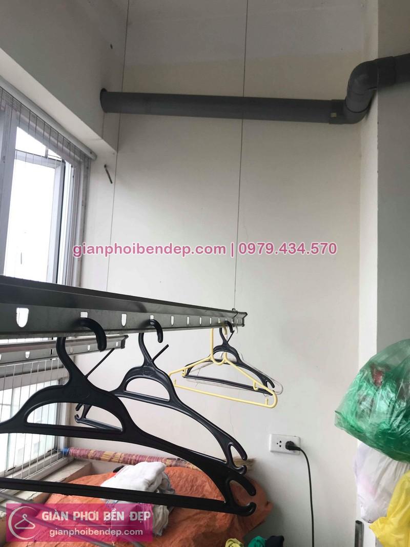 Hình ảnh thưc tế bộ giàn phơi quần áo thông minh nhà chị Lam