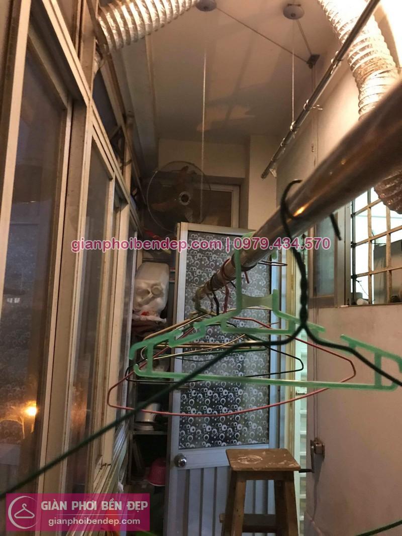Sửa giàn phơi thông minh nhà chị Lệ ở chung cư Đồng Tàu, Hoàng Mai