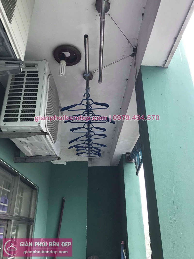 Sửa giàn phơi thông minh ở KĐT Pháp Vân, Hoàng Mai nhà chị Trang