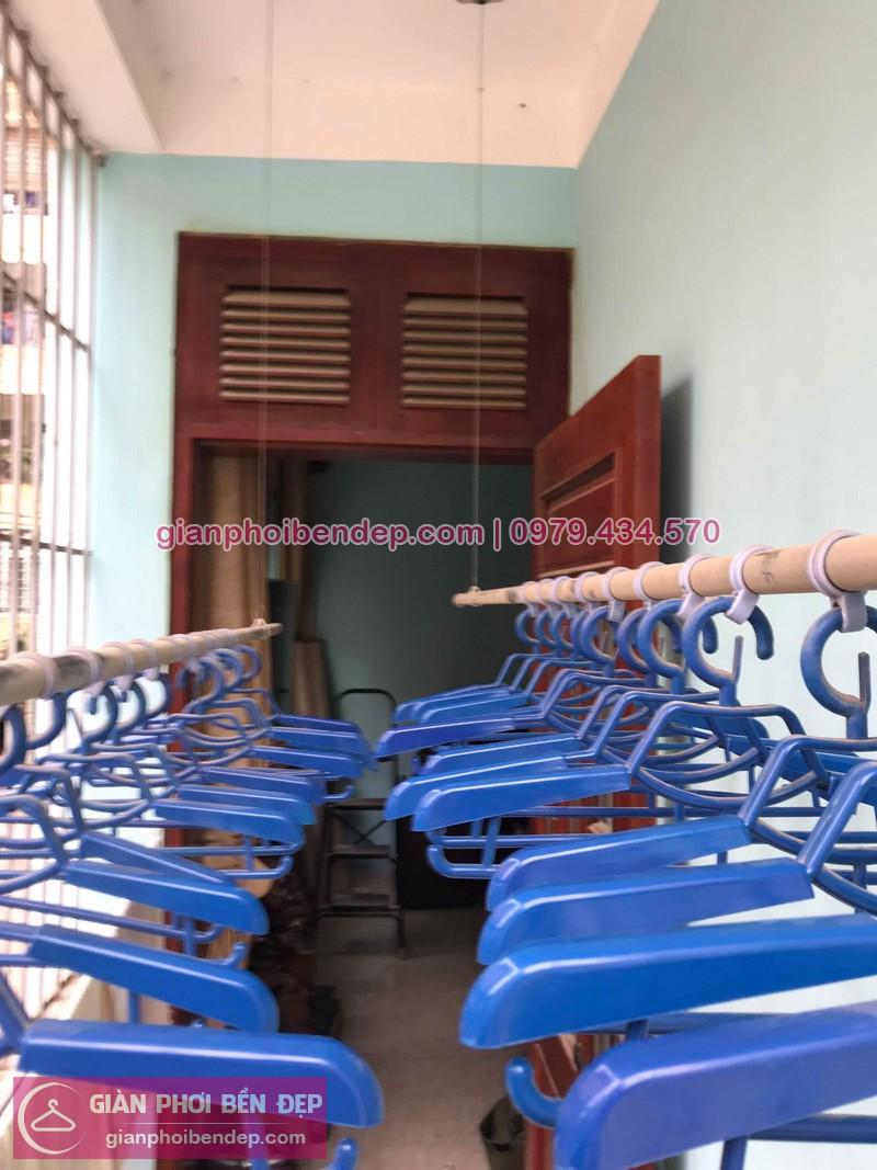 Thay dây cáp giàn phơi thông minh nhà chị Hồng ở ngõ 121 Thanh Lương
