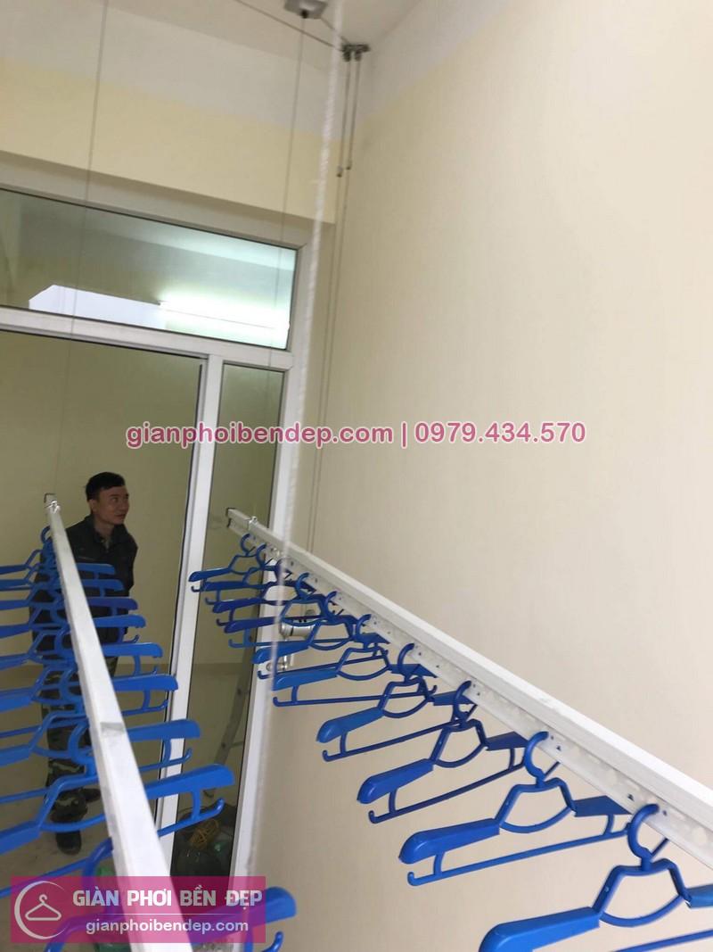 Lắp giàn phơi Gia Lâm nhà anh Tín ở chung cư Bộ Tổng Tham Mưu, An Đào