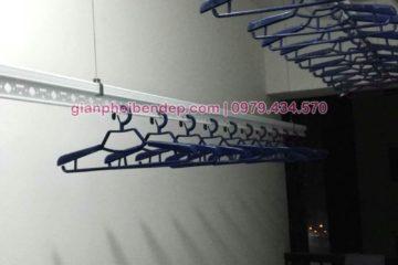 Lắp giàn phơi Hoàng Mai nhà chị Lam ở D1 chung cư Kim Văn Kim Lũ