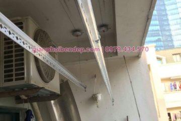 Lắp giàn phơi Từ Liêm nhà chị Dinh ở chung cư CT3 Mễ Trì Thượng