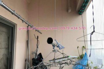 Sửa chữa giàn phơi thông minh nhà anh Tiến ở chung cư Nàng Hương