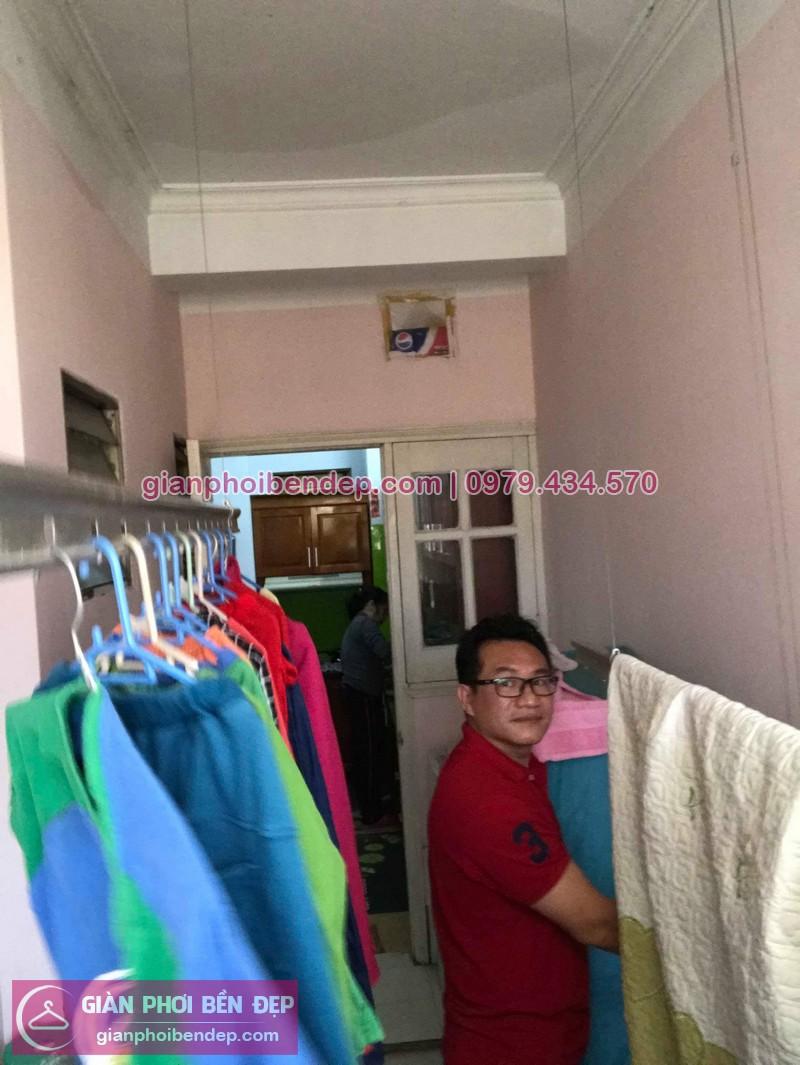 Sửa giàn phơi thông minh nhà anh Lợi ở chung cư C4 Mỹ Đình số 3 Nguyễn Cơ Thạch