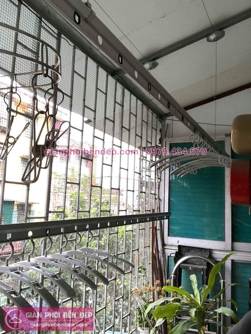 Sửa giàn phơi thông minh nhà anh Quân ở Khu tập thể Vĩnh Phúc Ba Đình