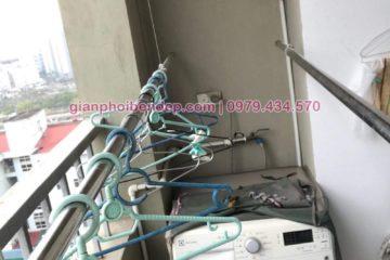 Sửa giàn phơi thông minh nhà chị Nhương ở chung cư CT20 Việt Hưng