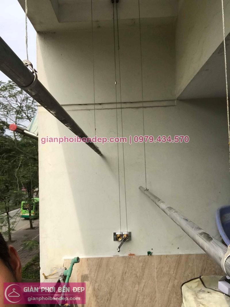 Sửa giàn phơi thông minh nhà chị Lệ ở K8 KĐT Việt Hưng, Đức Giang, Long Biên
